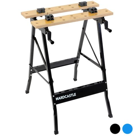 foldable work bench hardcastle folding trestle work bench stand mate foldable