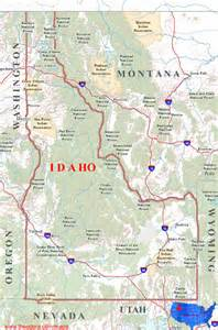 geographic id map idaho maps