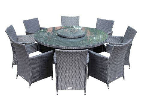 8 Cambridge chairs with large round table dining set with