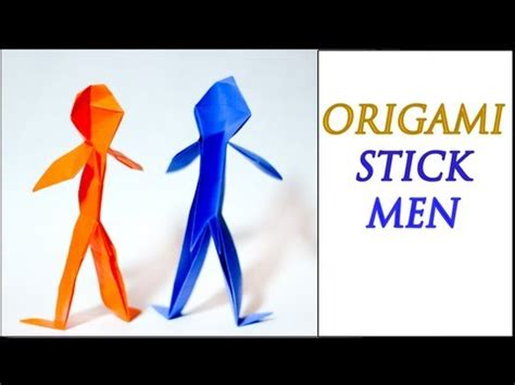 How To Make A 3d Paper Person - how to make an origami person intermediate level