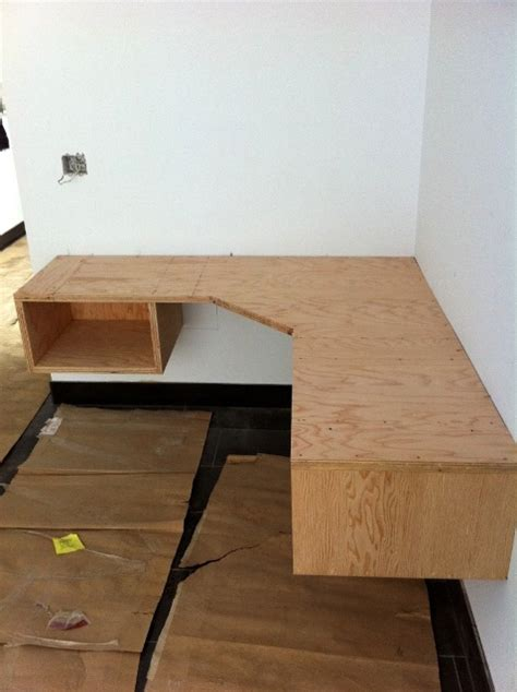 diy mdf desk build floating corner desk plans diy pdf wood project bar