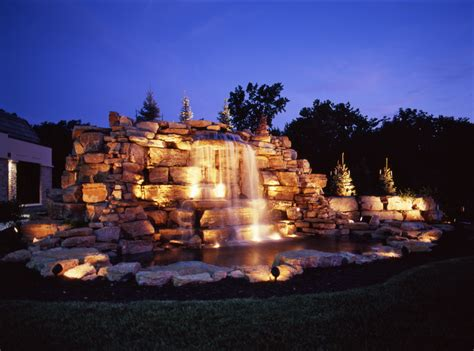 Underwater Landscape Lighting Waterfall Lighting Outdoor Lighting Perspectives Of