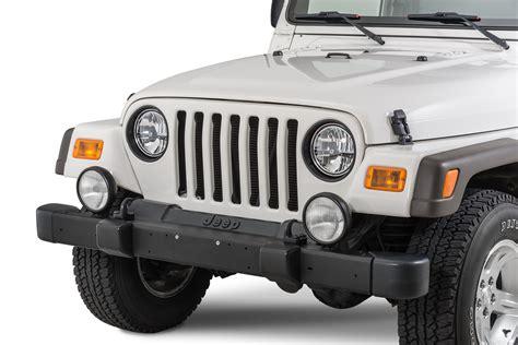 jeep rug rugged ridge 12419 23 headl bezels in black for 97 06 jeep 174 wrangler tj unlimited quadratec