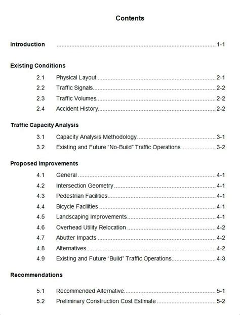 table of contents template docs table of contents template 9 free documents in