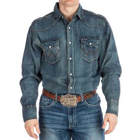 Sheep Home Decor by Shop Men S Wrangler Denim Work Shirt