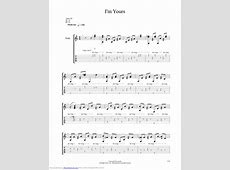 Im Yours guitar pro tab by Sungha Jung @ musicnoteslib.com I M Yours Chords