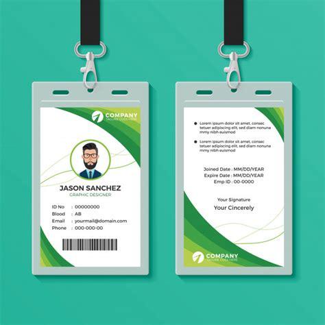 design id card terbaik plantilla de dise 241 o de tarjeta de identificaci 243 n gr 225 fica