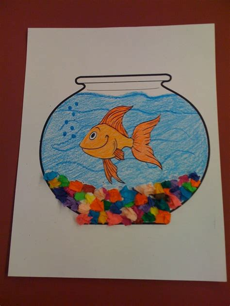 fishing crafts for pets fish bowl craft preschool pets