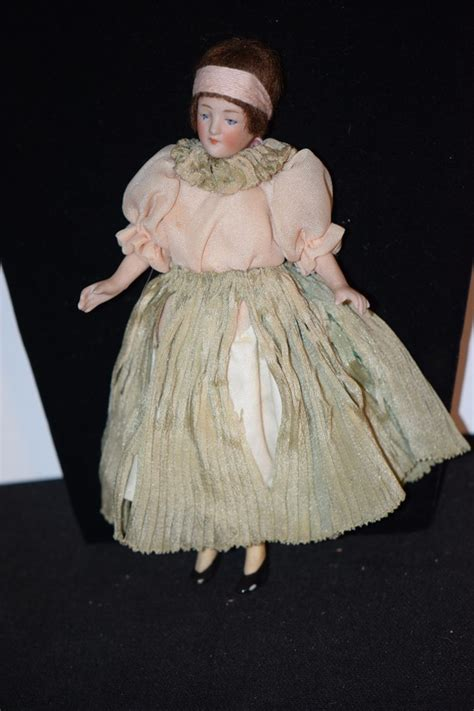 bisque flapper doll antique doll bisque miniature flapper dollhouse from