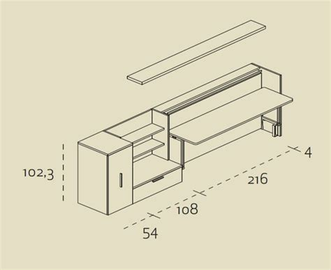scrivania misure scrivania misure misure letto a scomparsa con scrivania