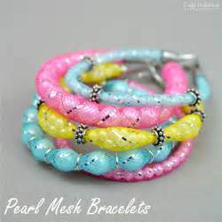 Pearl Jewelry Making Supplies - diy mesh bracelets step by step crafts unleashed