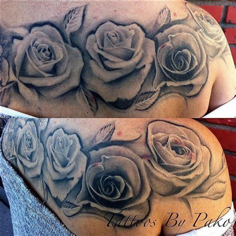 shadow rose tattoo tattoos tags black and gray grey feminine flower