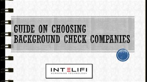 Background Check Companies Ppt Guide On Choosing Background Check Companies