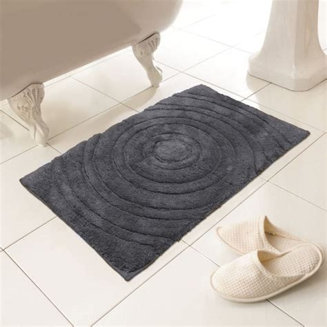 Bath Mat Sets Grey 100 Cotton Bath Mat Rug Silver Grey Tonys Textiles