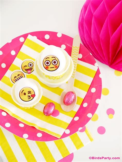 birthday themed emojis awesome diy emoji party ideas