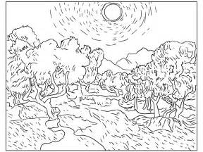 starry night coloring book page gallery