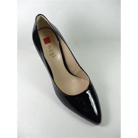 hogl hogl black patent leather pointed heel court