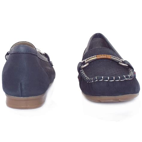 womens navy suede loafers rieker s breathable loafers in navy suede
