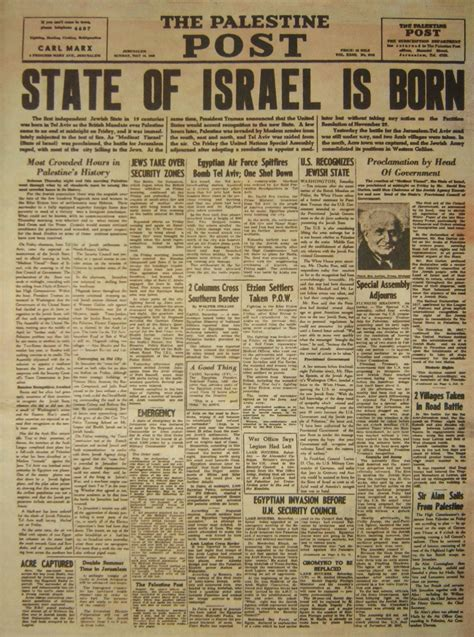 Picture Post Nation 16 by The State Of Israel Is Born 171 News 171 Articles