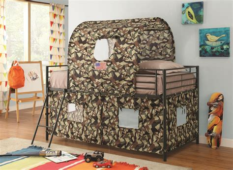 Hutches For Dining Room coaster furniture 460331 camouflage print tent youth loft