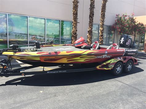 ranger bass boat wraps fire disk bass boat wrap geckowraps las vegas vehicle