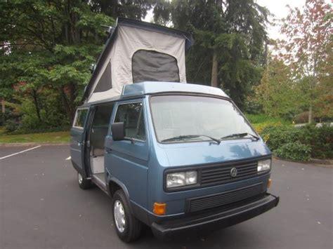 volkswagen vanagon blue 1987 volkswagen bus vanagon westfalia cer blue 2 1 l 4
