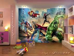 Marvel Wall Mural avengers mural boys room ideas pinterest my boys boys and ninja