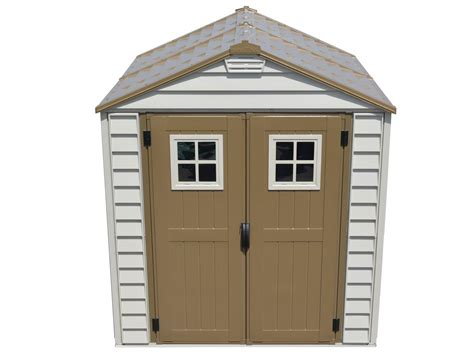 Durable Sheds by Duramax 30315 Storemax Vinyl Storage Shed 7x7 With Foundation