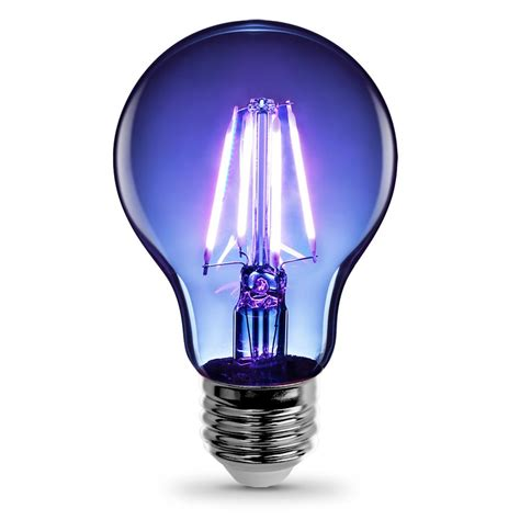 Coloured Led Light Bulbs Feit Electric 25w Equivalent Blue Colored A19 Dimmable Filament Led Clear Glass Light Bulb A19