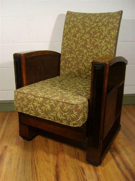 antique reclining chair antique art deco oak reclining chair c 1920 214205