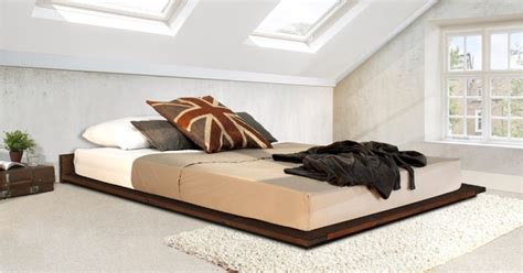 Low Bed Frame Handmade Wooden Low Modern Bed By Get Laid Beds Ebay
