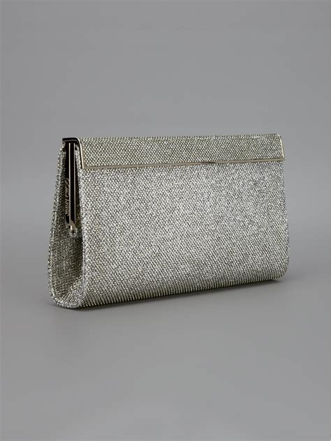 Jimmy Choo Slate Clutch by Lyst Jimmy Choo Cayla Clutch In Metallic