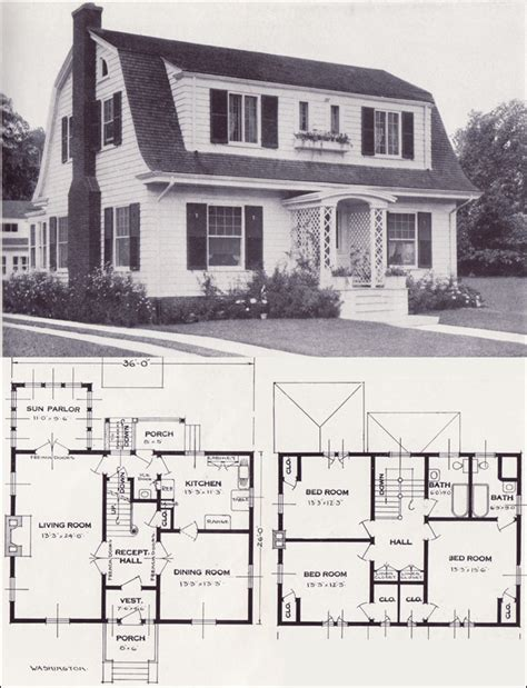 Dutch Colonial House Plans | 1920s dutch colonial house plans 1920 spanish colonial