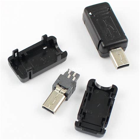 Usb Socket Connector Plastic Cover 5pcs mini usb 8 pin socket connector with plastic cover ebay