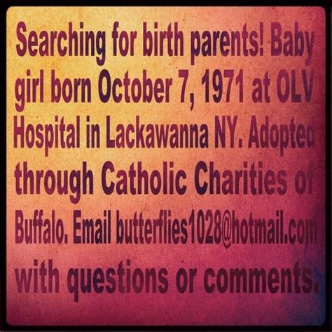 How To Find Birth Records With Only Mothers Name Born 10 7 71 Lackawanna Ny Adoptees Families Searching Discover
