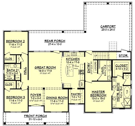 1900 sq foot ranch house plans european style house plan 3 beds 2 baths 1900 sq ft plan