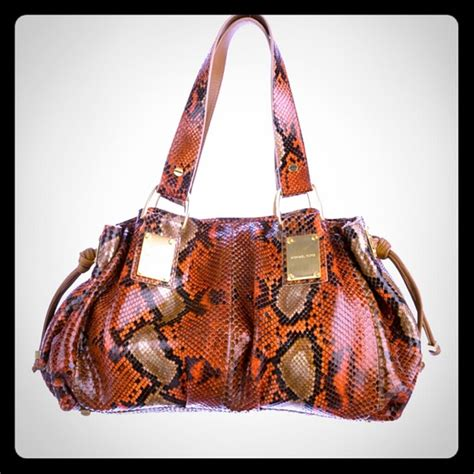 Michael Kors Rehearsal Flap Painted Python Handbag by 77 Michael Kors Handbags Michael Kors Python