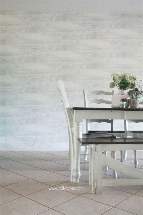 Wallpaper That Looks Like Shiplap Faux Wood Wallpaper Walls Republic Review Dining Rooms