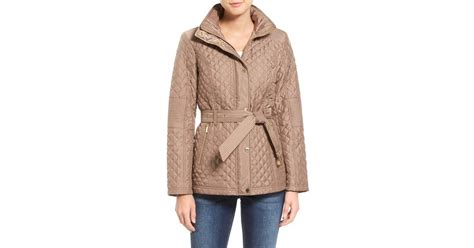 Belted Quilted Jacket by Michael Michael Kors Belted Quilted Jacket In Lyst
