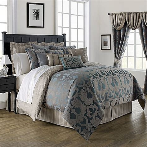bed bath and beyond waterford lakes waterford 174 linens chateau lake comforter set in slate