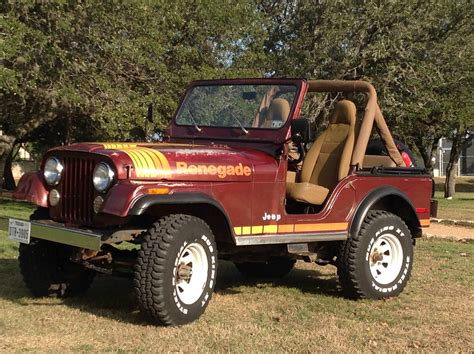 classic jeep renegade classic 1980 jeep cj5 renegade factory v8 with 4 speed trans