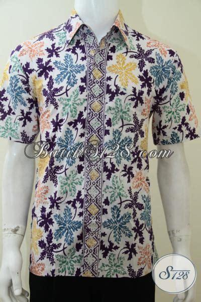 Batik Katun Motif Daun Pejabat kemeja batik bagus motif daun pepaya keren bro ld2266cd