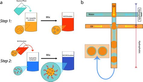 layout for the production of emulsions one step production of multiple emulsions microfluidic