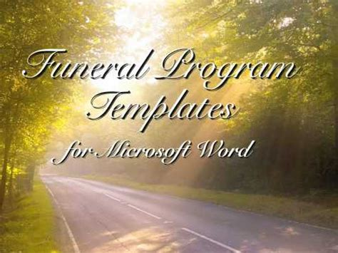 Best Poems For Funerals Youtube Funeral Presentation Template