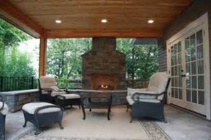 covered patio with fireplace outdoor spaces covered patios fireplaces and