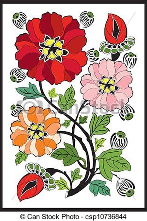 art nouveau flower pattern art nouveau style design