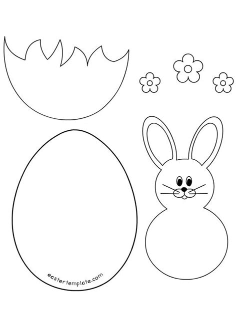 easter bunny cards template related images printable carrot templaterabbit with bow