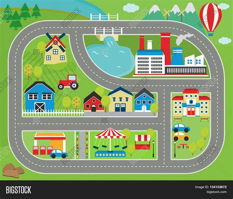 Cars Track Playmat lovely city landscape car track play mat for children
