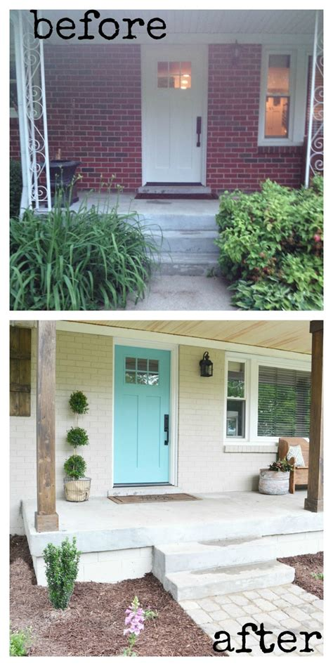 how to renovate a house lowe s home exterior makeover reveal beneath my heart