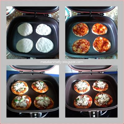 cara membuat pizza pan masakan melly mini pizza bake using happy call pan